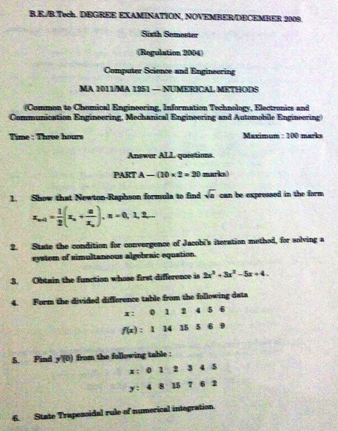 Previous Year Annauniversity Question Papers Ma 1011 Ma