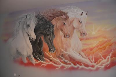 konie w galopie, lublin, malowanie koni, malarstwo dekoracyjne