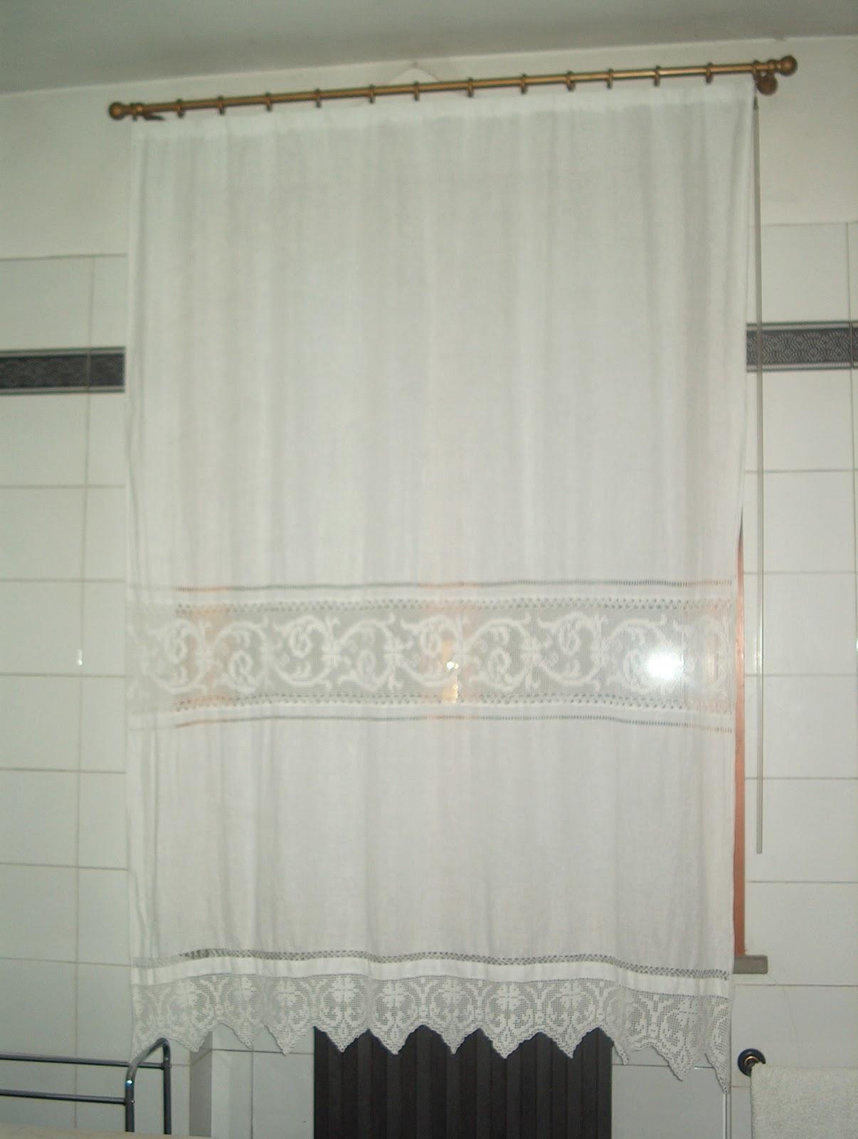 Creativa io tendone per bagno in lino - Tende finestra bagno ikea ...