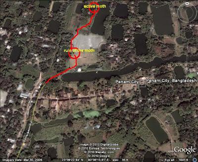 map Aminpur Moth near Panam City
