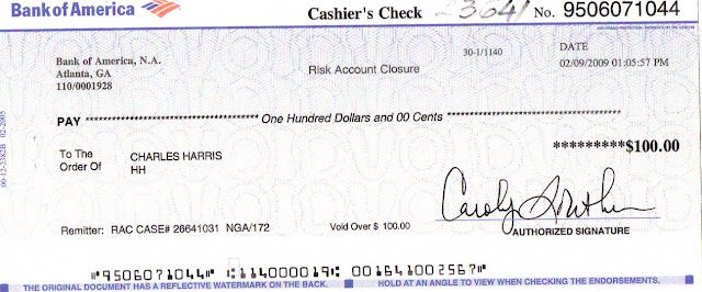 how to write a check bank of america easy