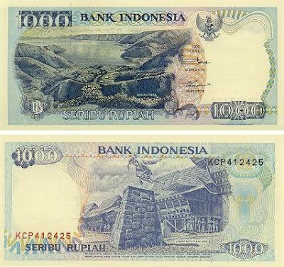 Uang Rp 1000 Tahun 1992