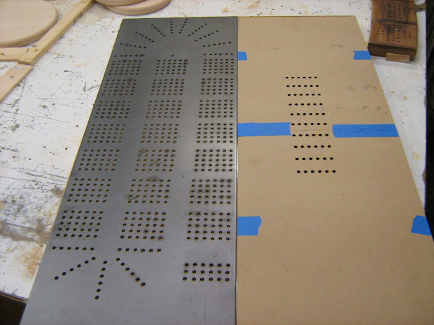 Large Cribbage Board Template