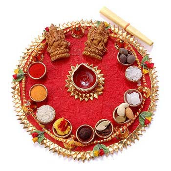 Deepavali poojan ki samagri list of items for diwali for Aarti thali decoration with clay