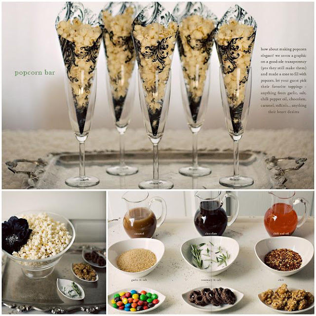 Loving The Popcorn Bar From {utterly Engaged} . Who Knew Popcorn Could Be  So Glamorous And Sophisticated. Have Plain Air Popped Popcorn And Allow  Your ...