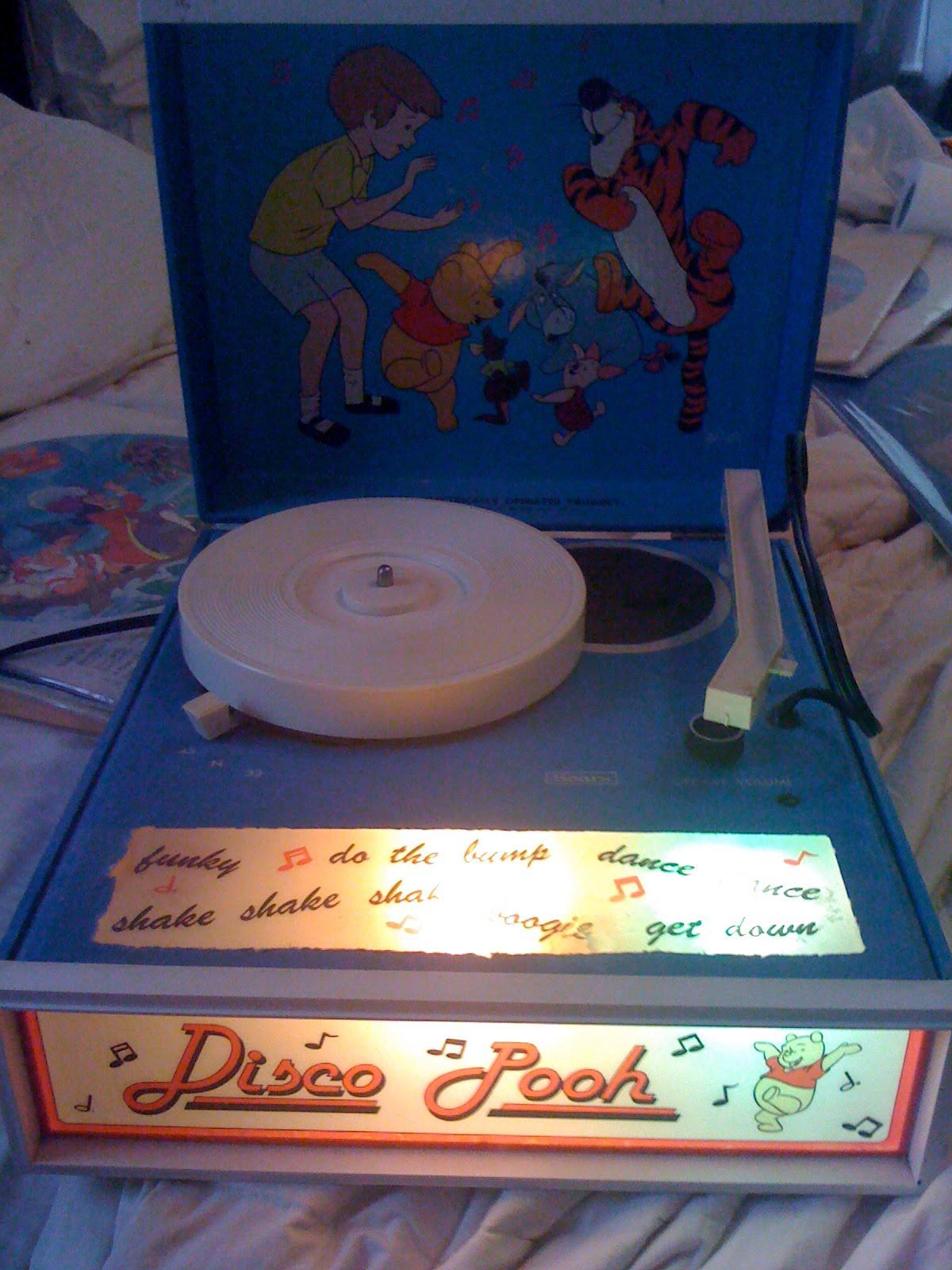 Disney Vinyl Record Albums Winnie The Pooh Disco Record Player