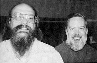 Ken Thompson and Dennis Ritchie