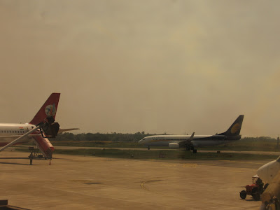 Jet Airways, Kingfisher planes at Bajpe