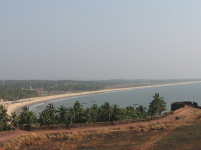 Birds view of the beach from Bekal Fort