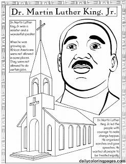 Special connection homeschool martin luther king jr day for Martin luther king day coloring pages