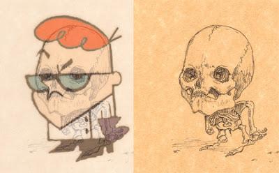Os esqueletos dos desenhos animados