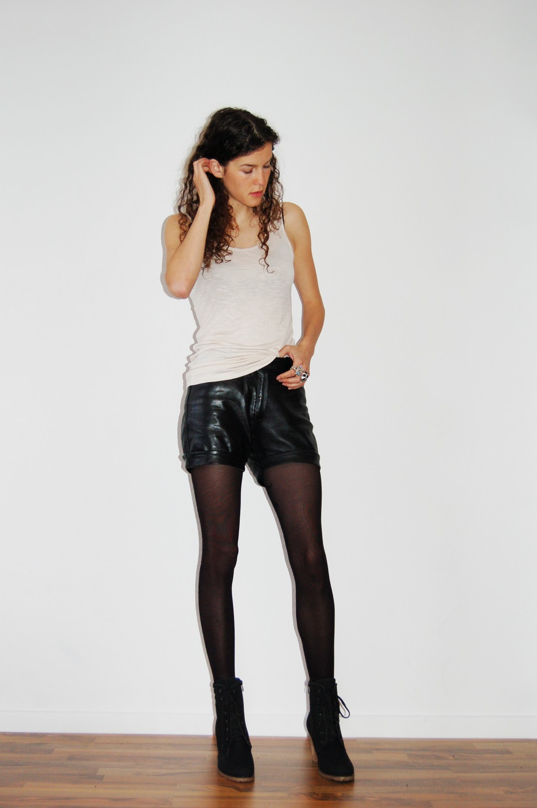 vintage leather shorts heylilahey