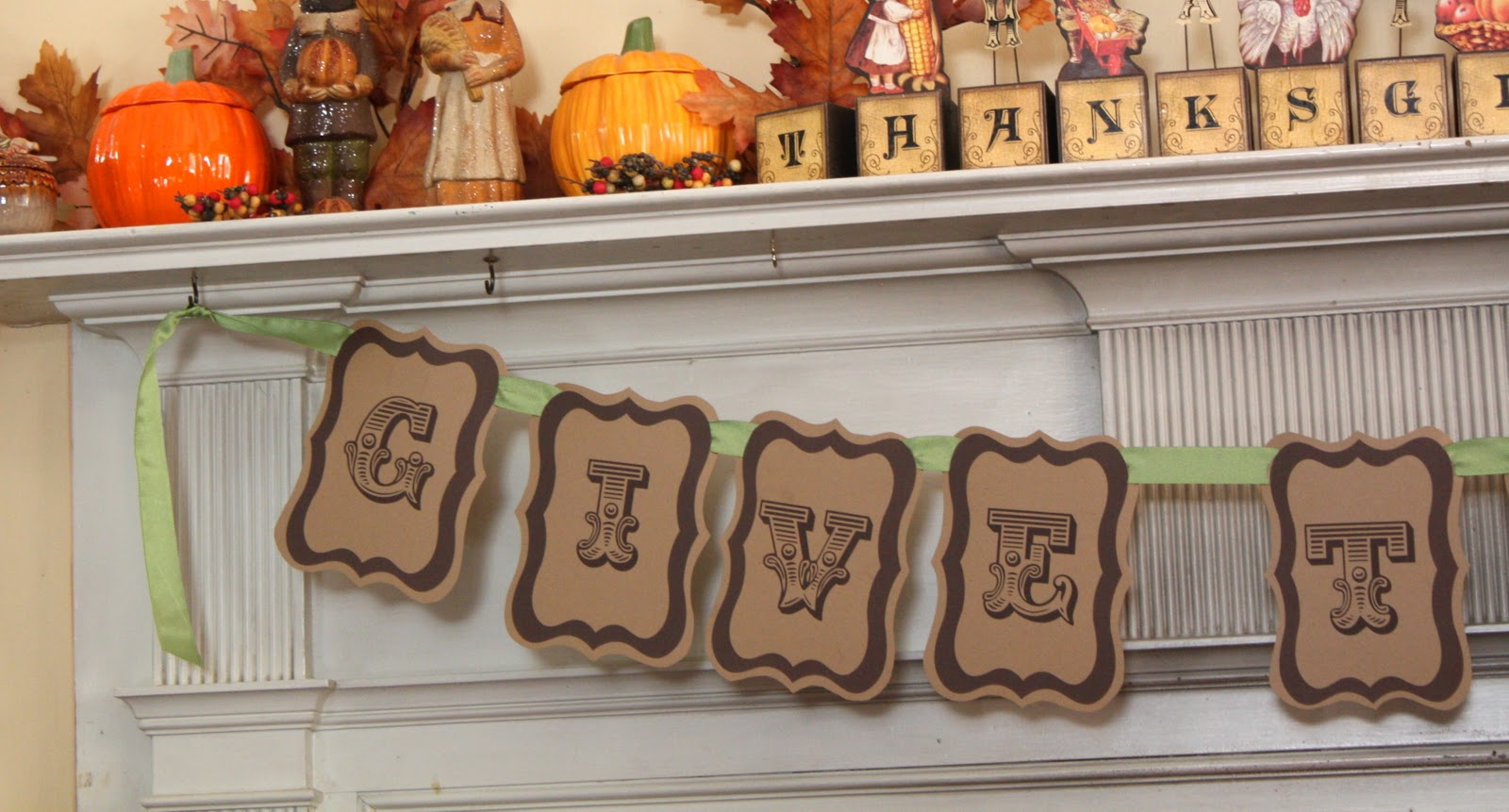 At Second Street: Give Thanks Banner-Free Printable