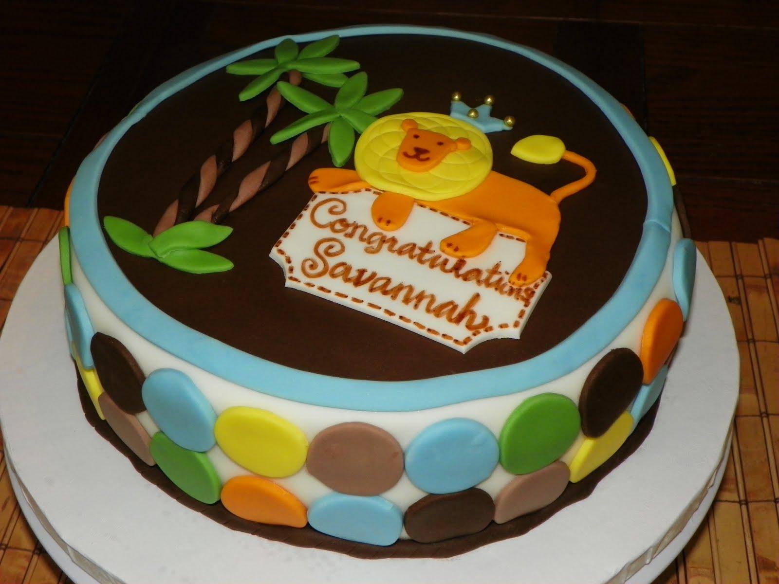 Plumeria Cake Studio King Of The Jungle Baby Shower Cake
