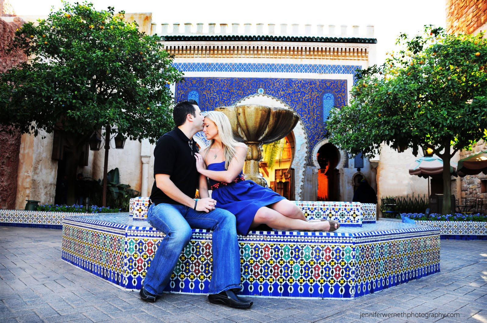 Gianna and Ryan's Engagement Photography Session Epcot in Disney World