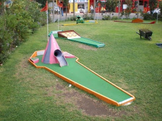 Crazy Golf in Towyn