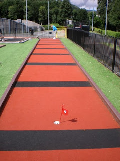 Crazy Golf at Riverside Park in Llangollen