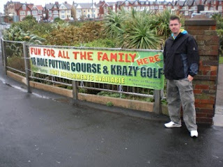 Krazy Golf and Putting courses at Gynn Gardens in Blackpool