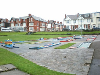 Crazy Golf course at Gynn Gardens in Blackpool