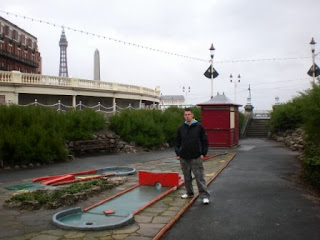 Crazy Golf course near the Metropole Hotel in Blackpool