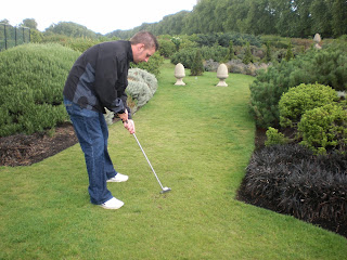 Richard Gottfried playing the Mini Golf course at Hyde Park in London