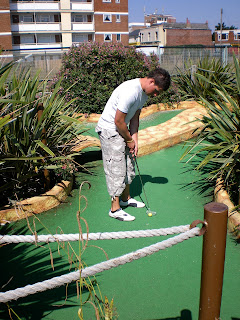 Pirate Adventure Golf course at Funland Theme Park in Hayling Island, Hampshire