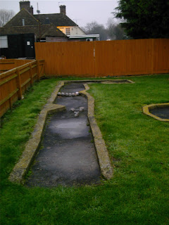 Crazy Golf course at The Horse & Harrow Pub in West Hagbourne, Oxfordshire