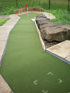 Adventure Golf course at St Nicholas Park in Warwick