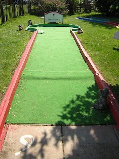 Minigolf at Stonham Barns in Suffolk