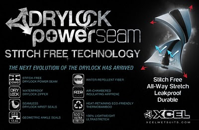 Xcel wetsuits Drylock Powerseam