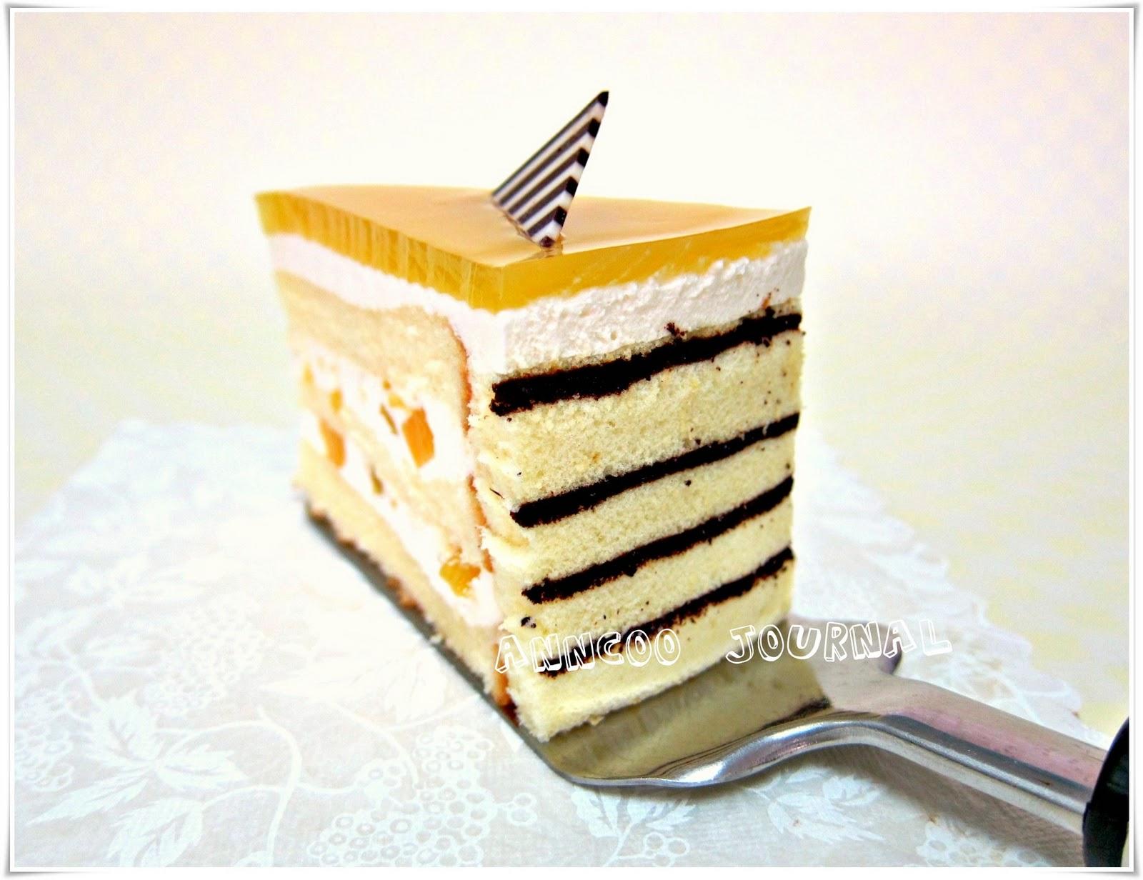 Mango Mirror Cake Anncoo Journal