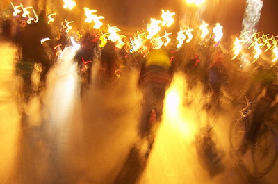 Image of Chicago Critical Mass participants