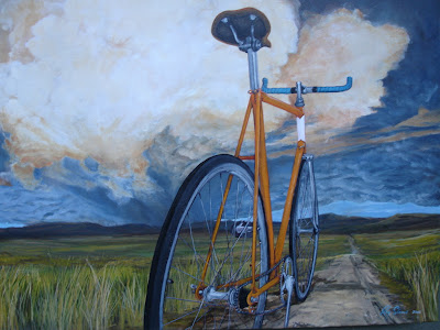 Image of a bike mural in Chico California