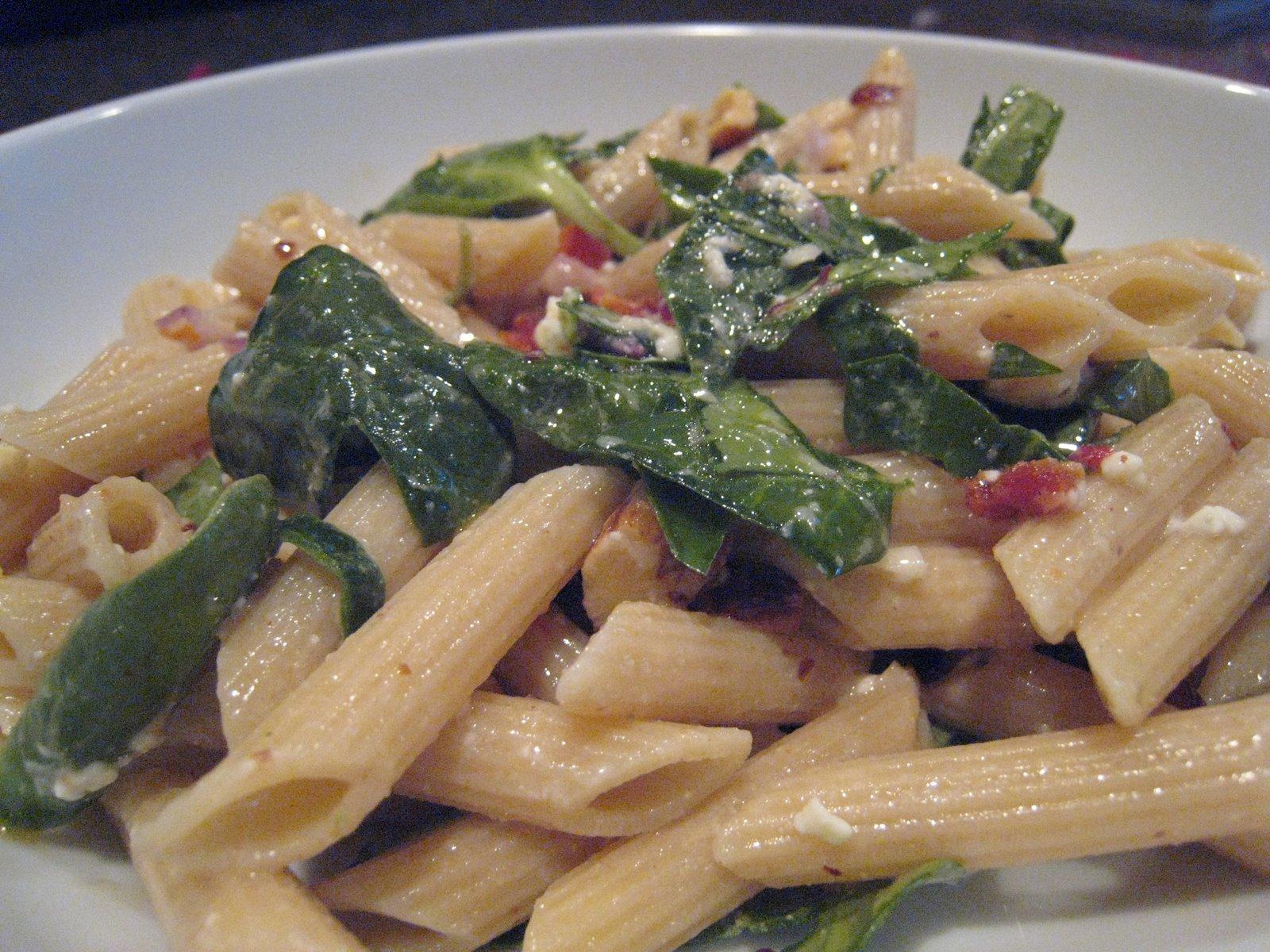 pasta salad with feta walnuts