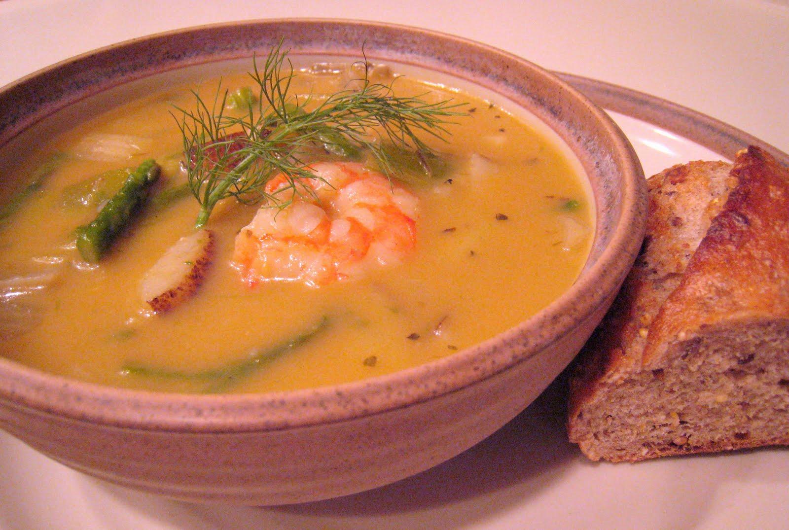 asparagus shrimp chowder