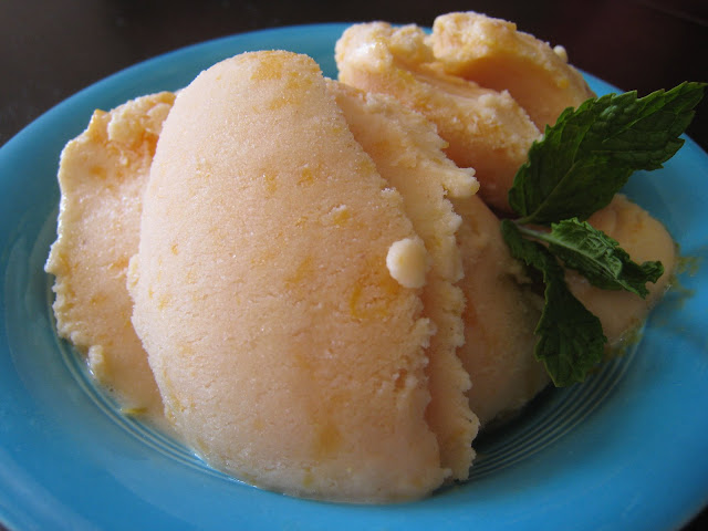 low fat peach ice cream