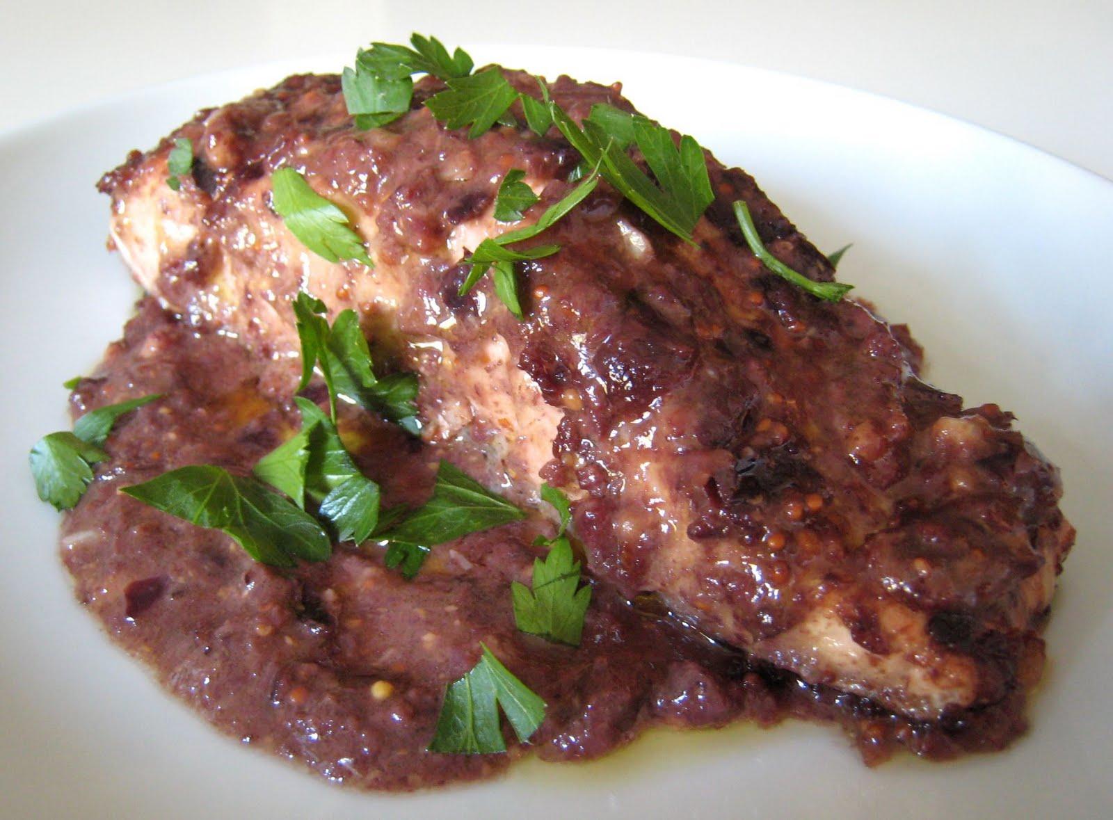 salmon olive vinaigrette