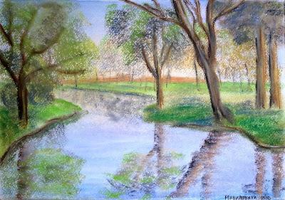 Creek Reflections by Irina Rekhviashvili