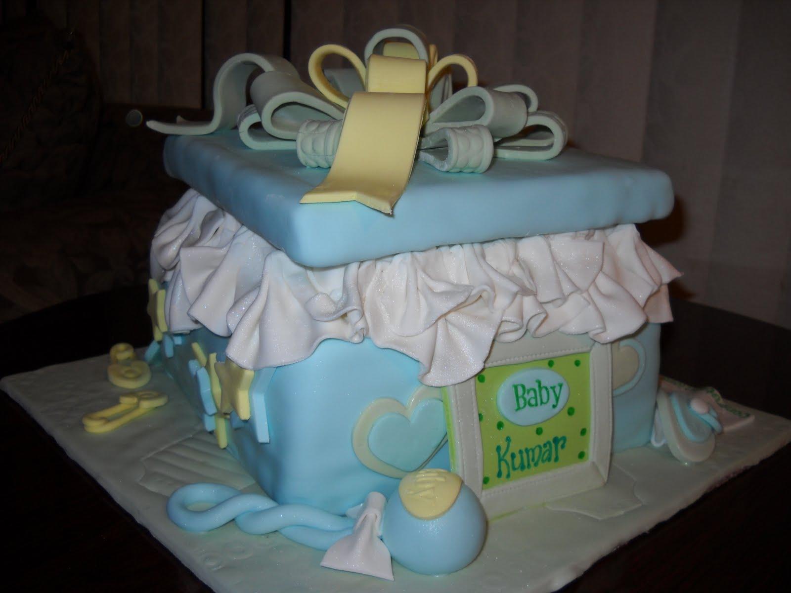 Tara S Piece Of Cake Present Babyshower Cake