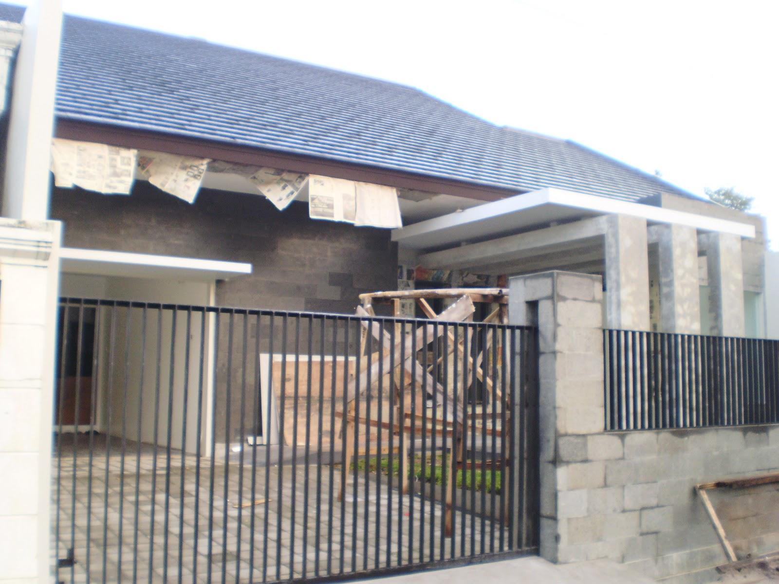 Pagar Rumah Minimalis Setengah Tembok Rumah Joglo Limasan Work