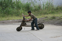 Wooden Homemade Bicycle in the Philippines