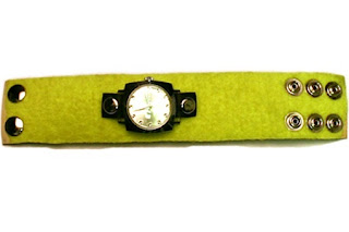 Recycled tennis ball watch
