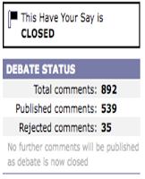 BBC Debate Closed