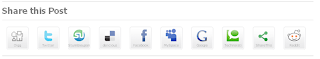 Share This Post Social Bookmarking Buttons