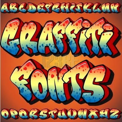 Cool Graffiti Style Fonts | Graffiti Alphabet Letters