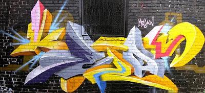 New Graffiti Art: Graffiti Colorful Alphabet Fonts Draw 3D Color