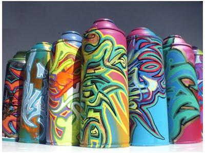 New Graffiti Art: Alphabet In Graffiti Spray Paint Cans