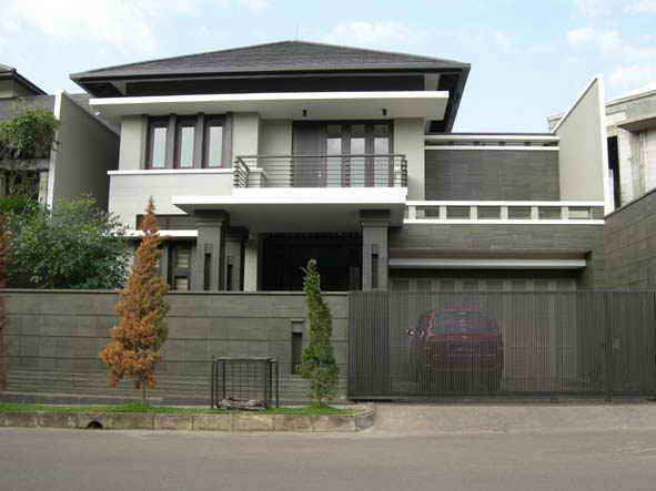 Minimalist House Design That Consist Of Small Rectangular Blocks