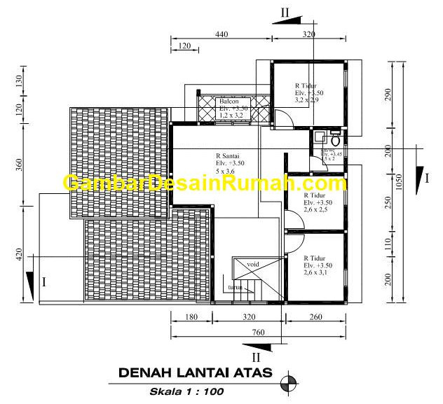 Minimalist Home Design 3D Building Area Total 175 Meters