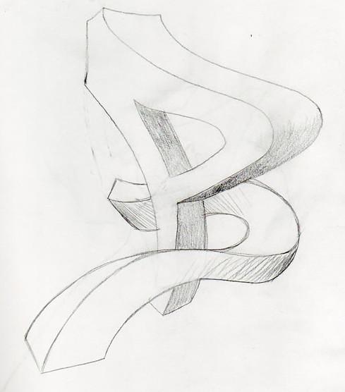 new graffiti: Sketches Graffiti Alphabet B